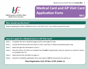 Medical Card Application Form